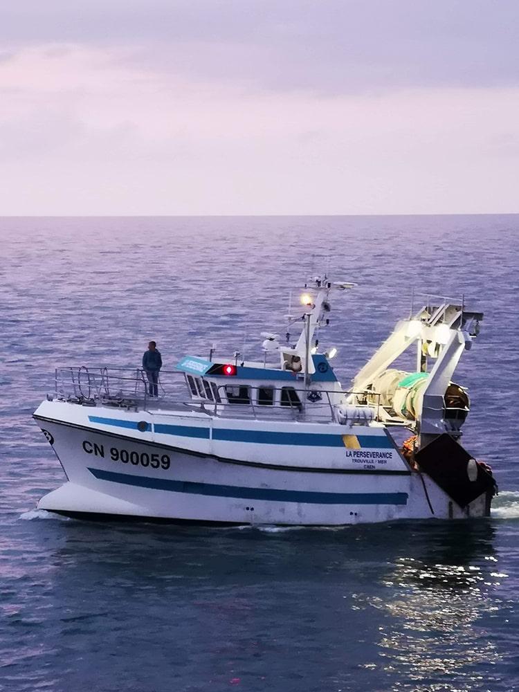 Bateau La Persévérance peche en mer