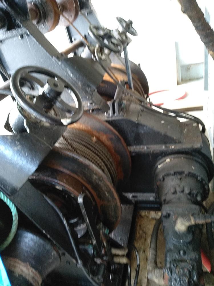 moteur du chalutier